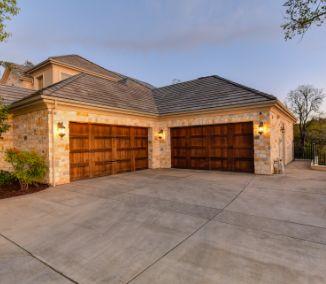 4 car garage wood garage door